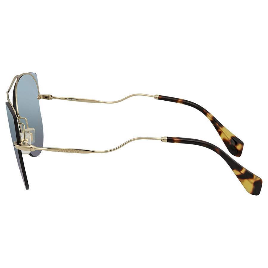 f2637929800 ... Miu Miu Blue Mirror White Cat Eye Ladies Sunglasses MU 52SS ZVN5Q0 62