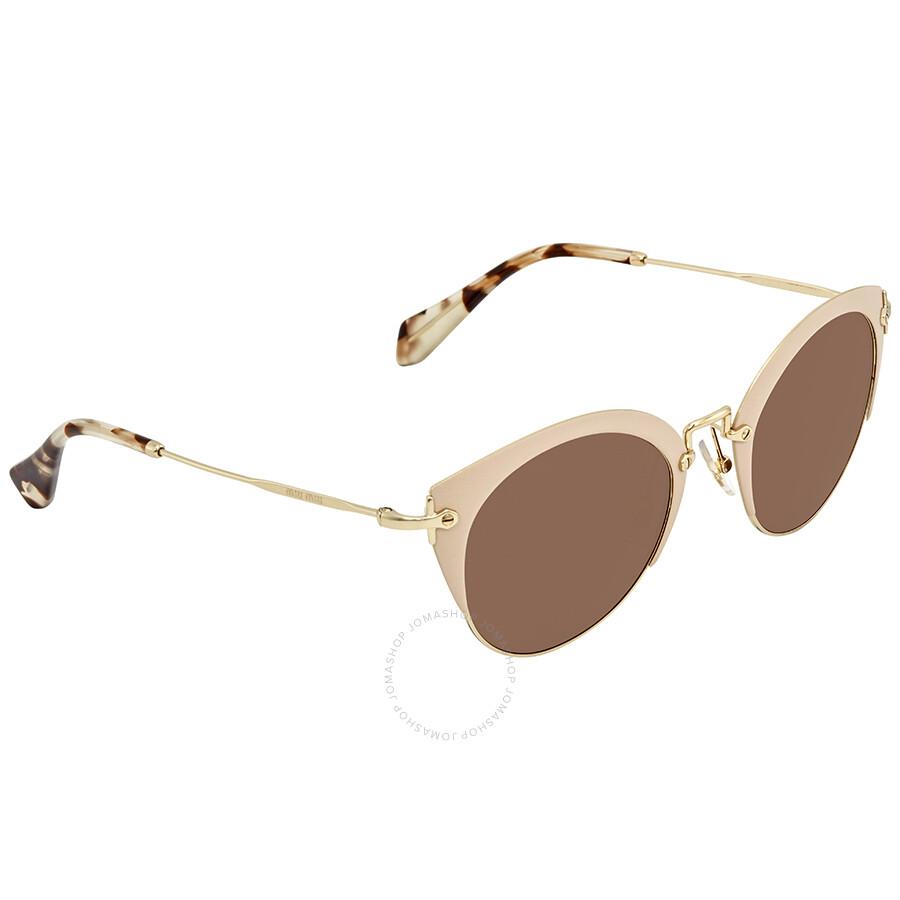 3ac1d4b3970 Miu Miu Round Sunglasses MU 53RS 21F111 52 - Miu Miu - Sunglasses ...