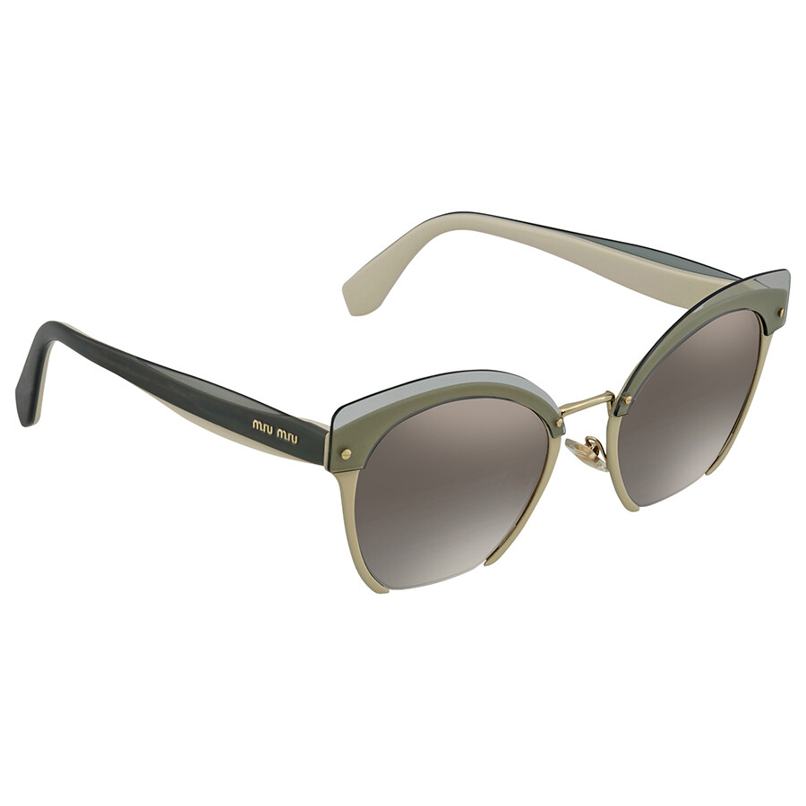 7b62ed37873 Miu Miu Gradient Grey Mirror Silver Cat Eye Ladies Sunglasses MU 53TS  KJK5O0 53 ...
