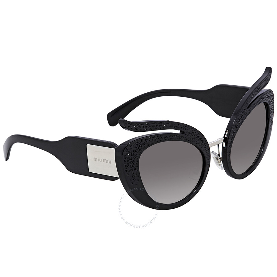 b3e45d38962 Miu Miu Gradient Grey Mirror Silver Cat Eye Sunglasses MU 04TS VW35O0 53 ...