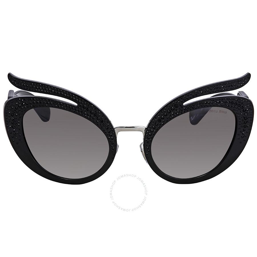 e46a210c8c81 Miu Miu Gradient Grey Mirror Silver Cat Eye Sunglasses MU 04TS VW35O0 Item  No. MU 04TS VW35O0 53