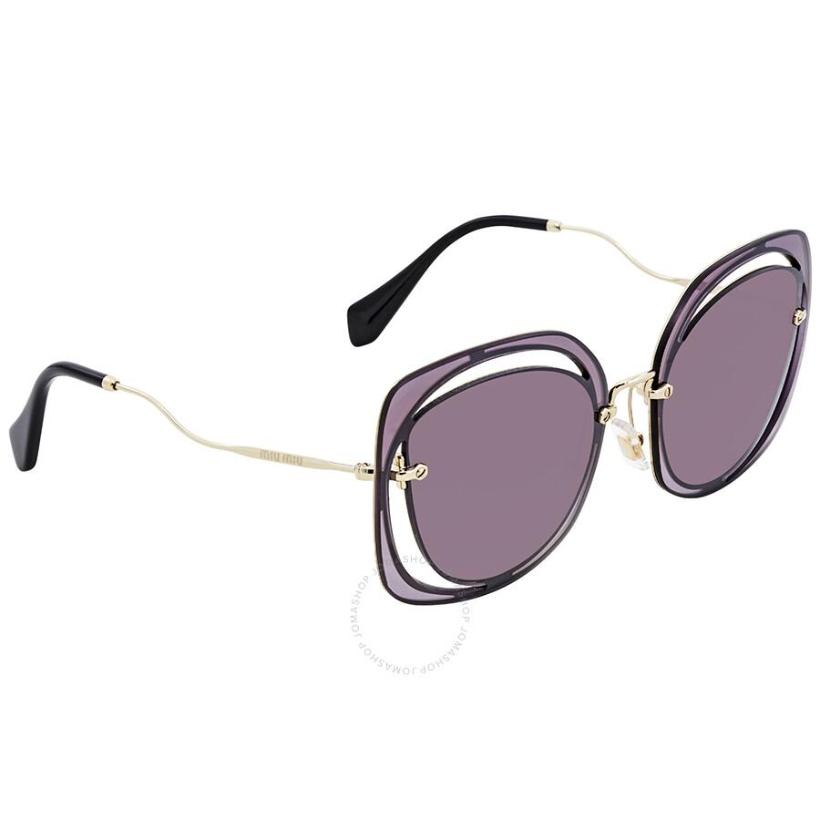 9ada536c7cf0 Miu Miu Gradient Violet Mirror Silver Sunglasses MU 54SS ZVNAD6 64 ...