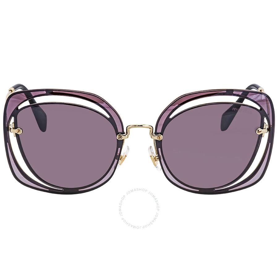 bc7b96fcdc99 ... Miu Miu Gradient Violet Mirror Silver Sunglasses MU 54SS ZVNAD6 64 ...