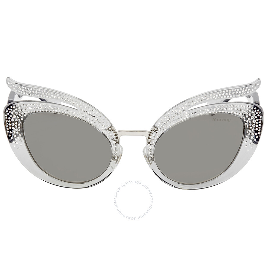 d0929b2e3db Miu Miu Grey Cat Eye Sunglasses MU 04TS 54Z139 53 - Miu Miu ...