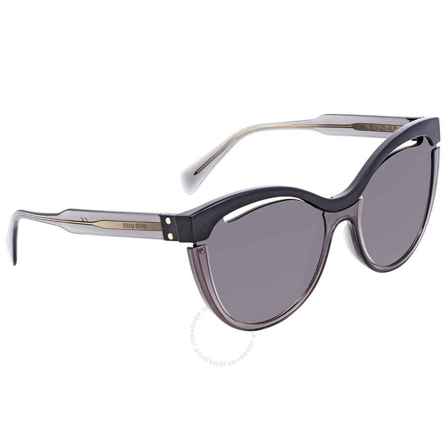 5b097329ada Miu Miu Grey Gradient Cat Eye Sunglasses MU 01TS 1AB3M1 36 - Miu Miu ...