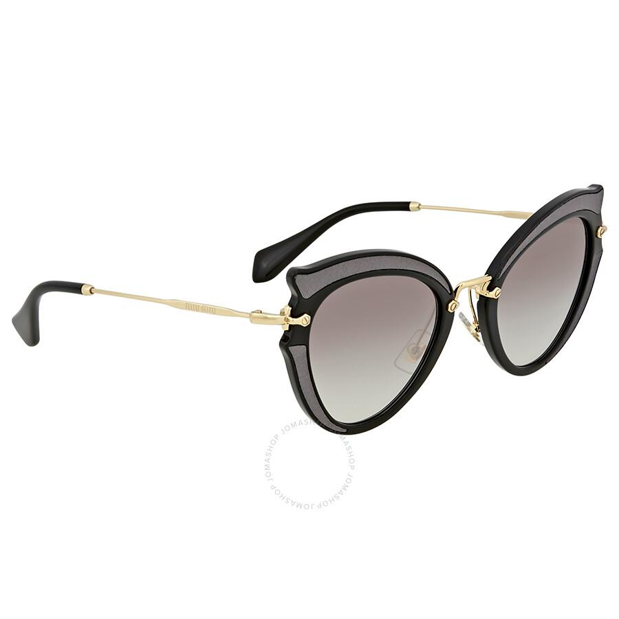 6fbf8b75a0c Miu Miu Grey Gradient Cat Eye Sunglasses - Miu Miu - Sunglasses ...