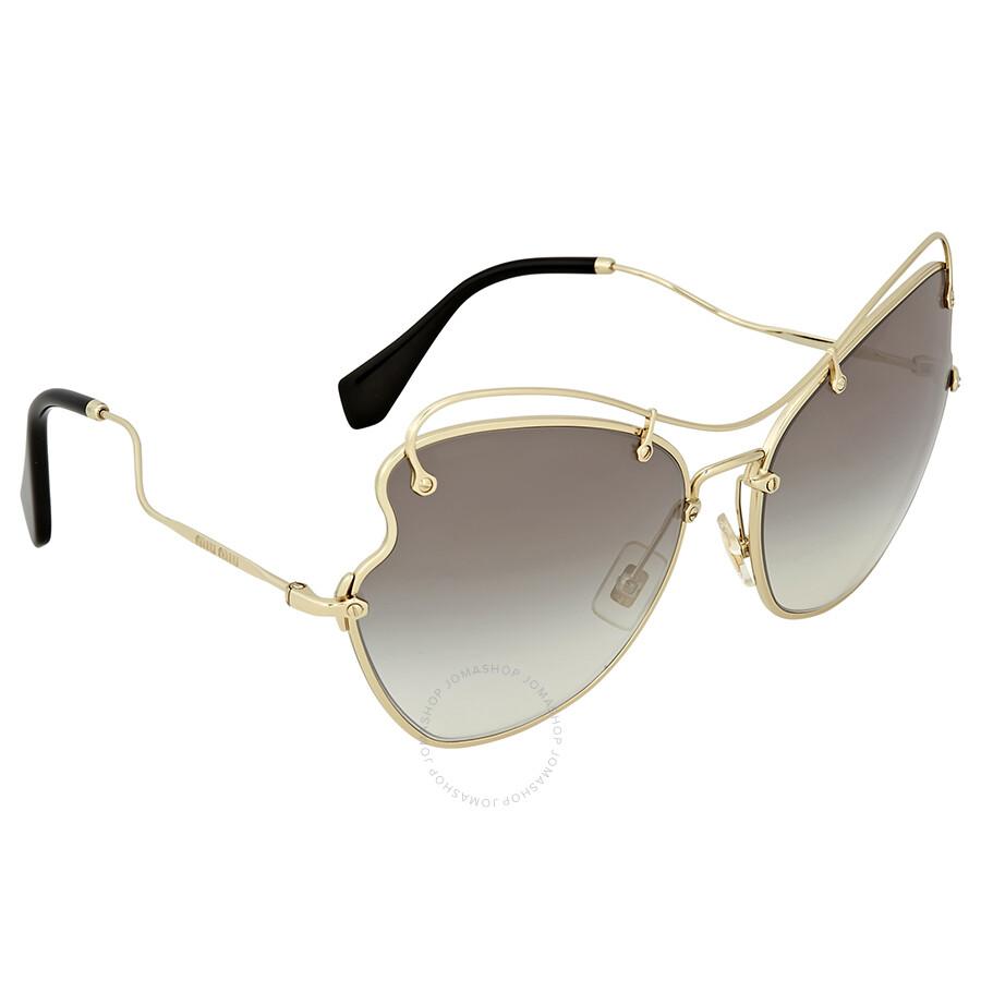 84b8c83648 Miu Miu Grey Gradient Metal Butterfly Sunglasses Miu Miu Grey Gradient  Metal Butterfly Sunglasses ...