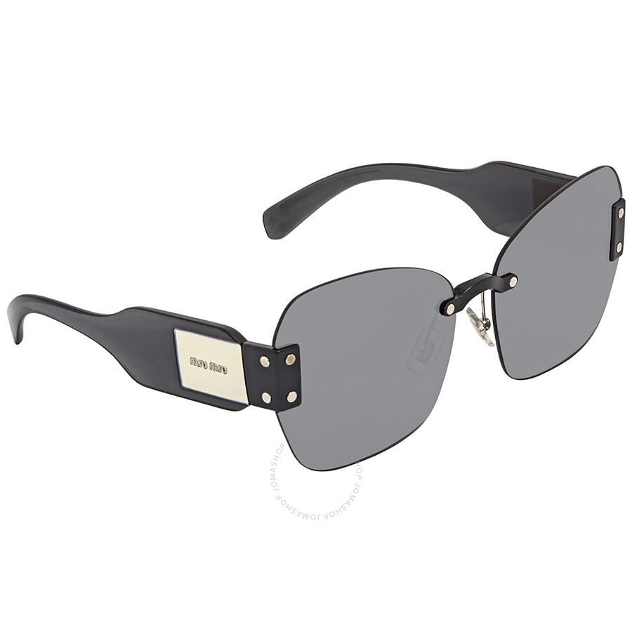 6b5d7975141 Miu Miu Grey Sunglasses MU 08SS 1AB9K1 63 - Miu Miu - Sunglasses ...