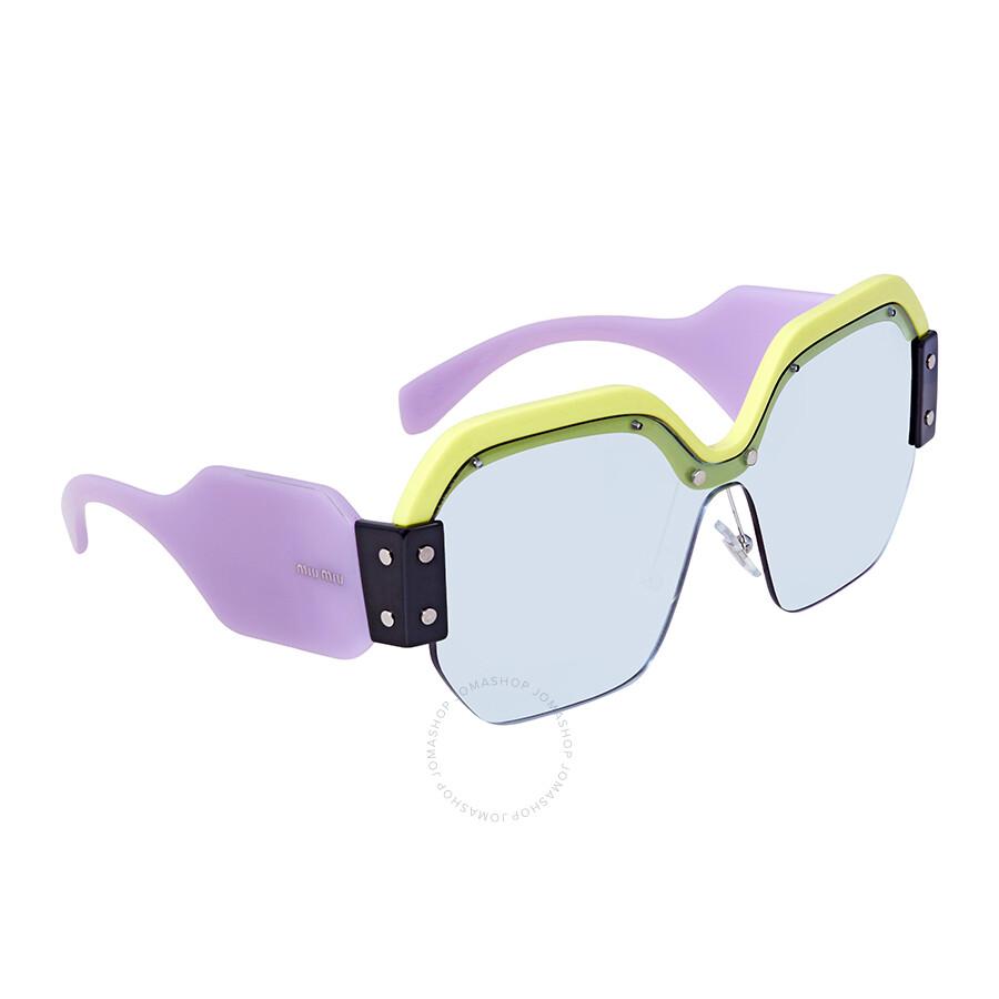 0927ebb8bde1 Miu Miu Light blue Square Sunglasses MU 09SS VIV4Q2 32 - Miu Miu ...