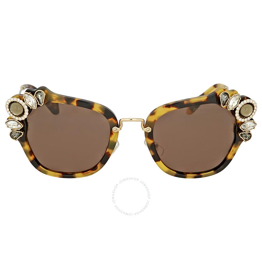 be4c360a3443d Miu Miu Light Havana Cat Eye Sunglasses - Miu Miu - Sunglasses ...