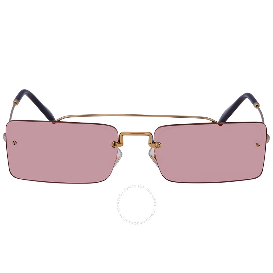 b560b4254544c ... Miu Miu Light Violet Rectangular Ladies Sunglasses MU 59TS ZVN9G1 58 ...