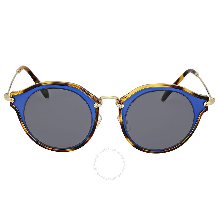44a4cc02c42a Miu Miu Matte Azure Metal Sunglasses - Miu Miu - Sunglasses - Jomashop