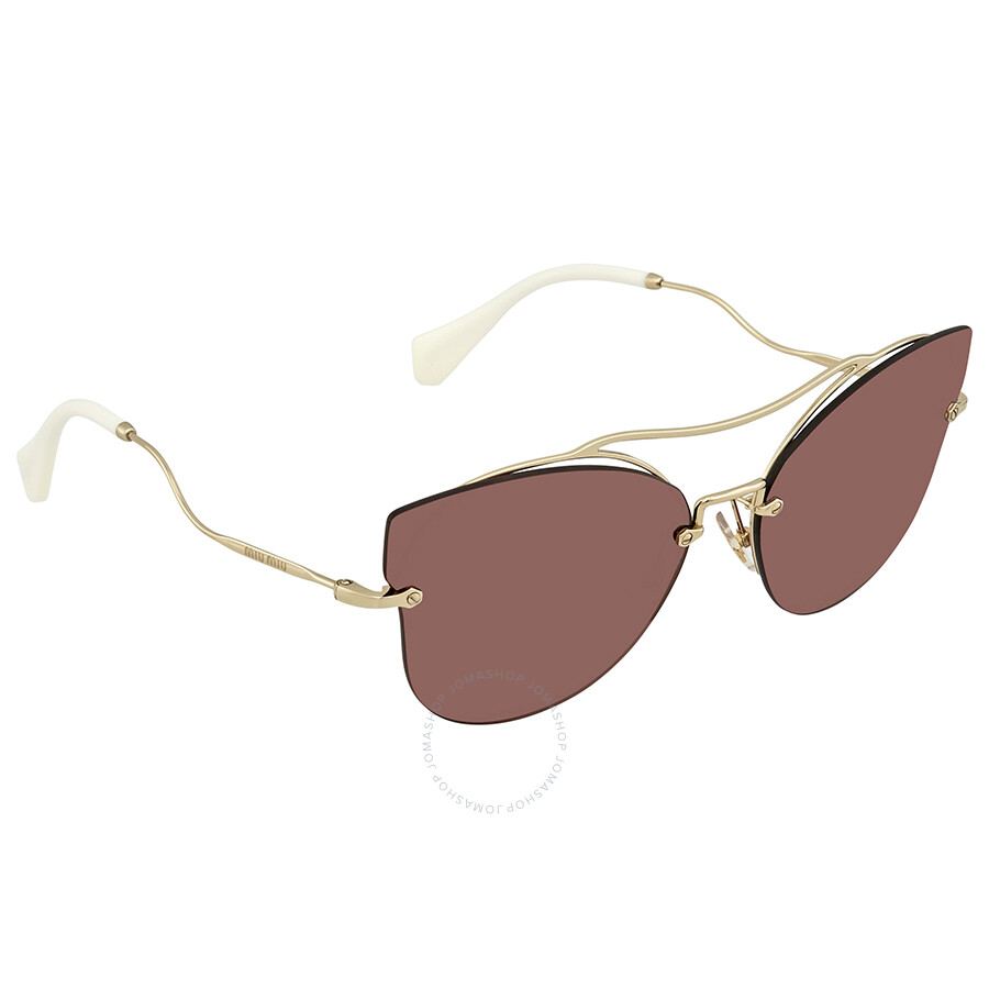 3e146aae5b9f7 Miu Miu Metal Cat Eye Ladies Sunglasses 0MU 52SS ZVN0A0 62 - Miu Miu ...