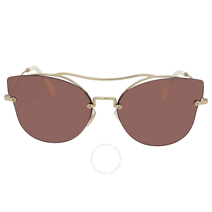 433d893122 Miu Miu Metal Cat Eye Ladies Sunglasses 0MU 52SS ZVN0A0 62 - Miu Miu ...