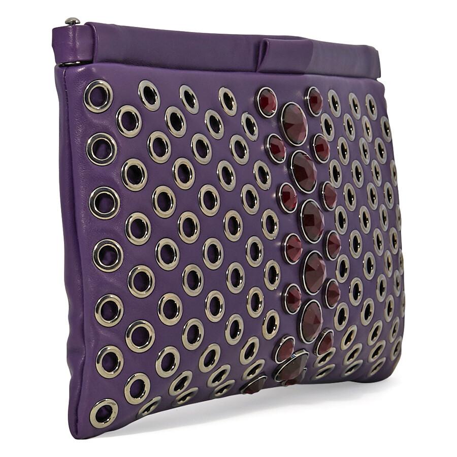 03f912d3ac86 Miu Miu Nappa Leather Clutch - Purple - Miu Miu - Handbags - Jomashop