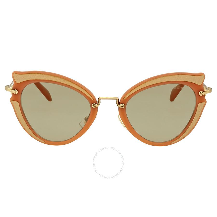 22008b8b68c1 Miu Miu Ocher Cat Eye Sunglasses - Miu Miu - Sunglasses - Jomashop