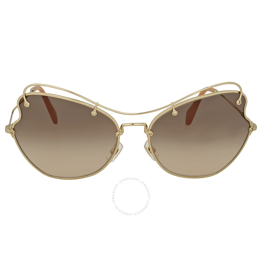 3d7cc589229b Miu Miu Pale Gold Metal Sunglasses - Miu Miu - Sunglasses - Jomashop