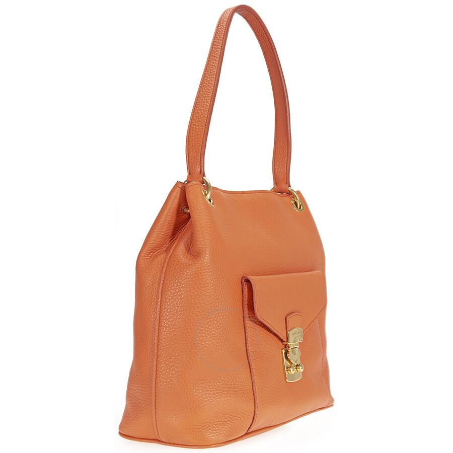 Miu Miu Papaya Leather Hobo Bag - Miu Miu - Handbags - Jomashop a7852a1b78