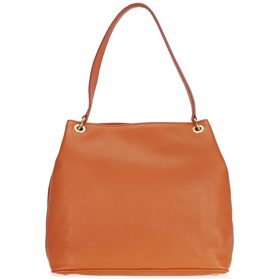 5af3f1537cd8 Miu Miu Papaya Leather Hobo Bag - Miu Miu - Handbags - Jomashop