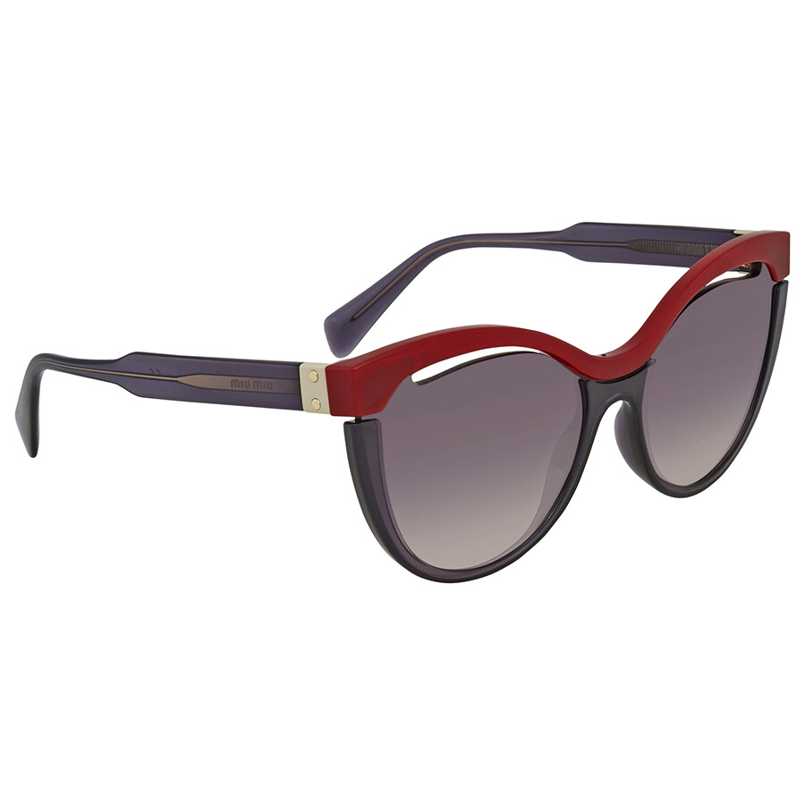 3c84bf0835de9 Miu Miu Pink Gradient Dark Violet Cat Eye Sunglasses MU 01TS 7J8NJ0 36 ...