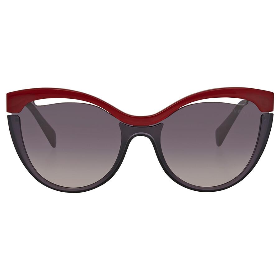 03911fecd675 ... Miu Miu Pink Gradient Dark Violet Cat Eye Sunglasses MU 01TS 7J8NJ0 36  ...