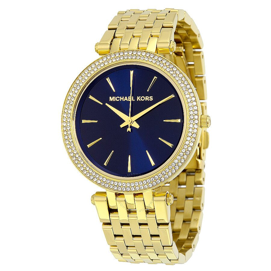 Tone Michael Ladies Mk3406 Watch Darci Dial Blue Box Open Gold Kors qpUMLSzGV