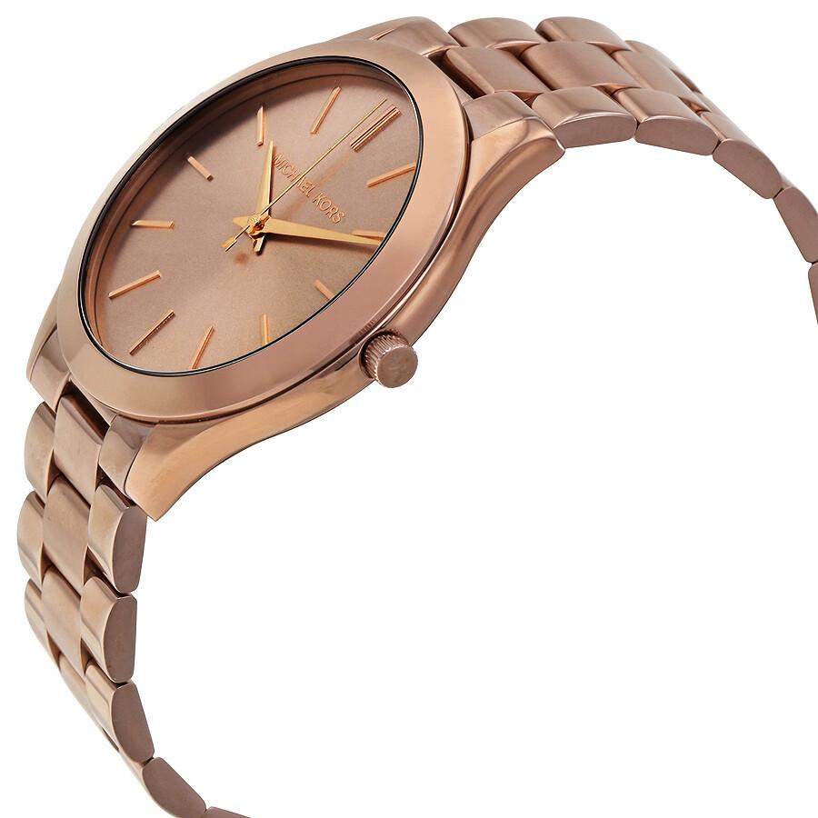 fbb97571a9e1 Michael Kors Slim Runway Sable Dial Ladies Dress Watch MK3418 - Slim ...