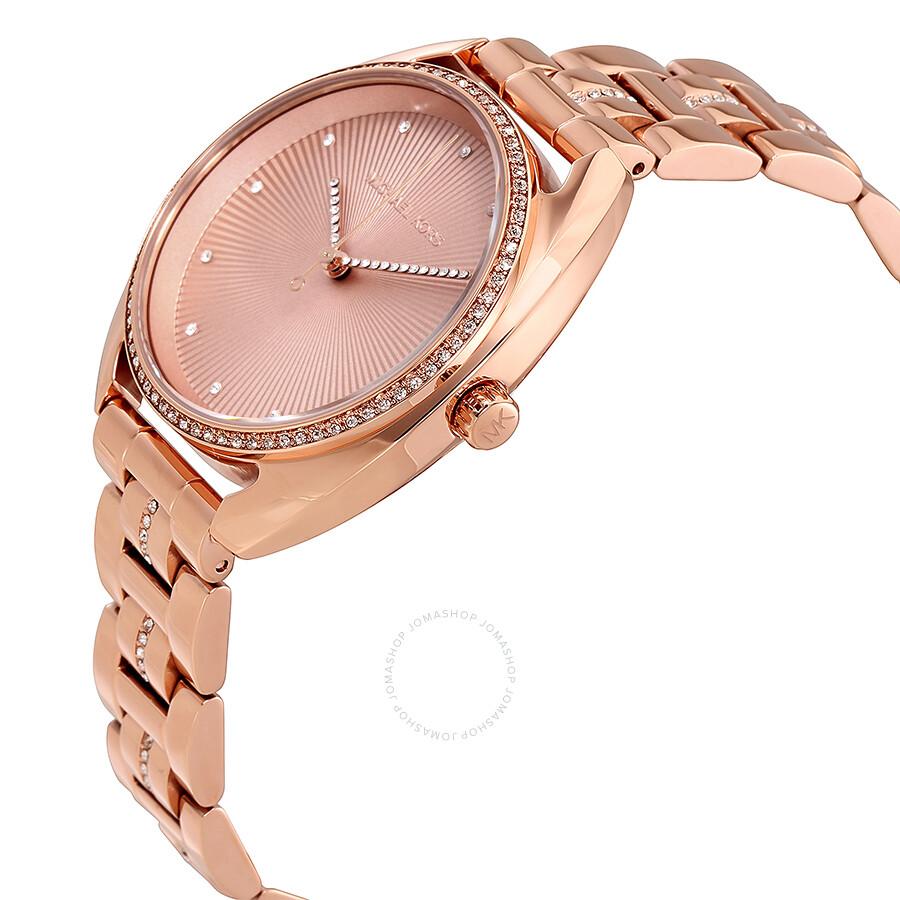dc46788ec359 Michael Kors Libby Rose Gold Dial Ladies Watch MK3677 - Michael Kors ...