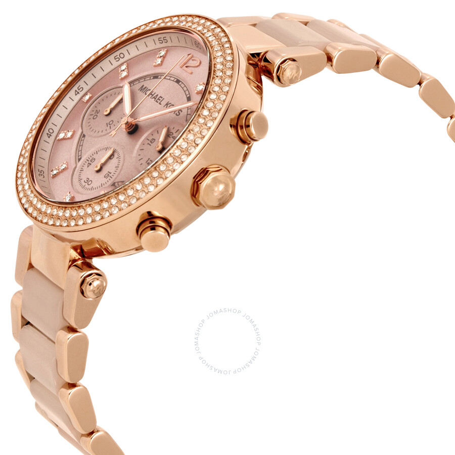 f719613d8db9 Michael Kors Parker Blush Dial Ladies Watch MK5896 - Parker ...