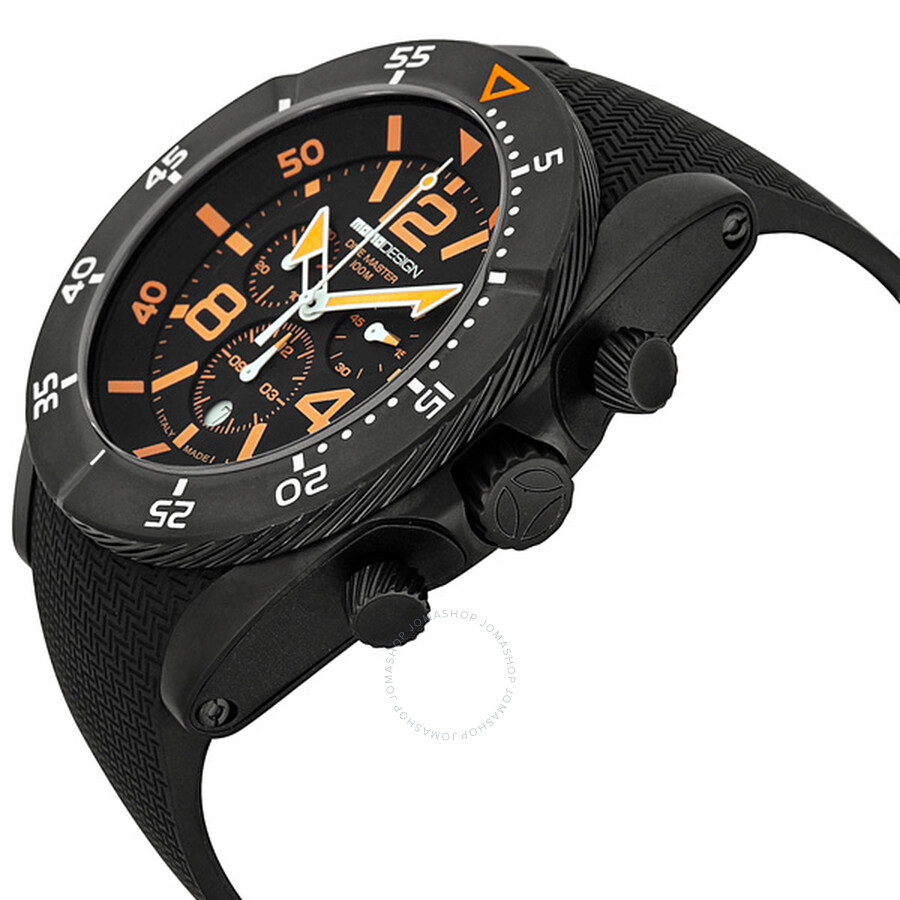 Momo design dive master chronograph black and orange dial stainless steel men 39 s watch md278bk31 - Momo design dive master ...