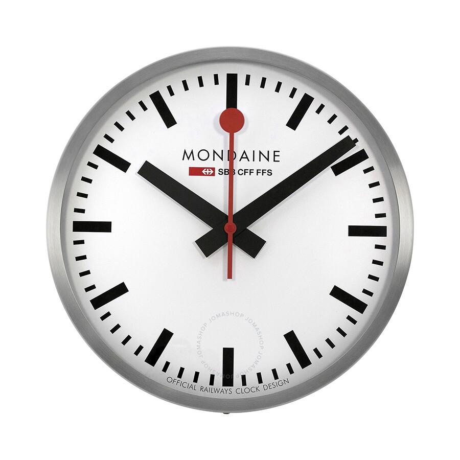Mondaine 40cm White Dial Stainless Steel Wall Clock