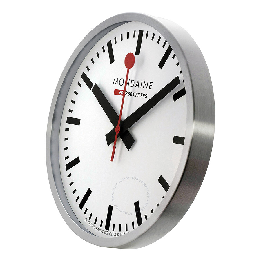Mondaine 40cm white dial stainless steel wall clock a995cl16sbb mondaine watches jomashop - Mondaine wall clock cm ...