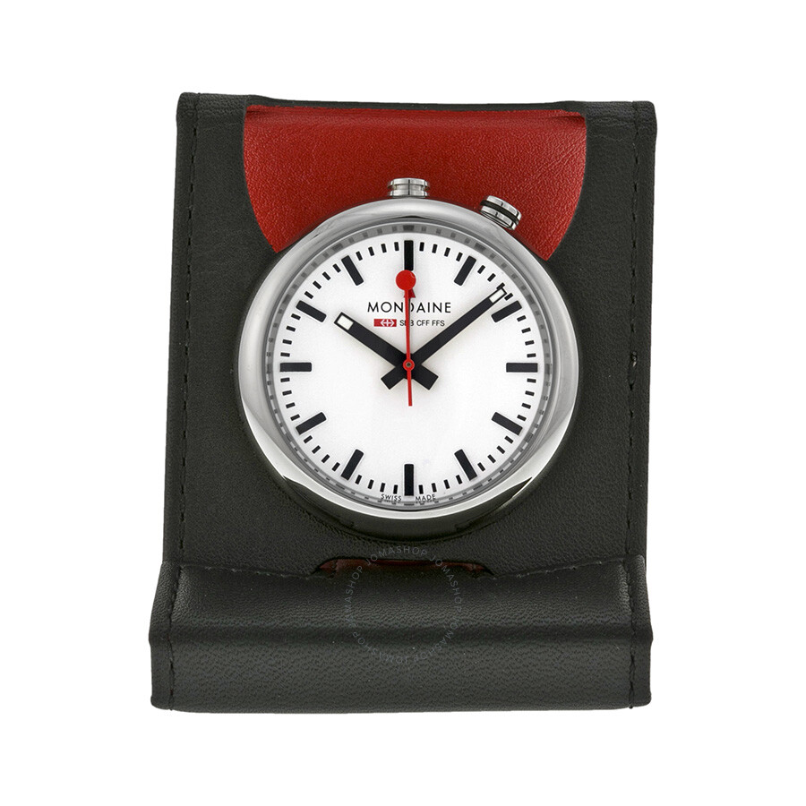 Mondaine travel alarm clock a4683031911sbb clock mondaine watches jomashop - Mondaine wall clock cm ...