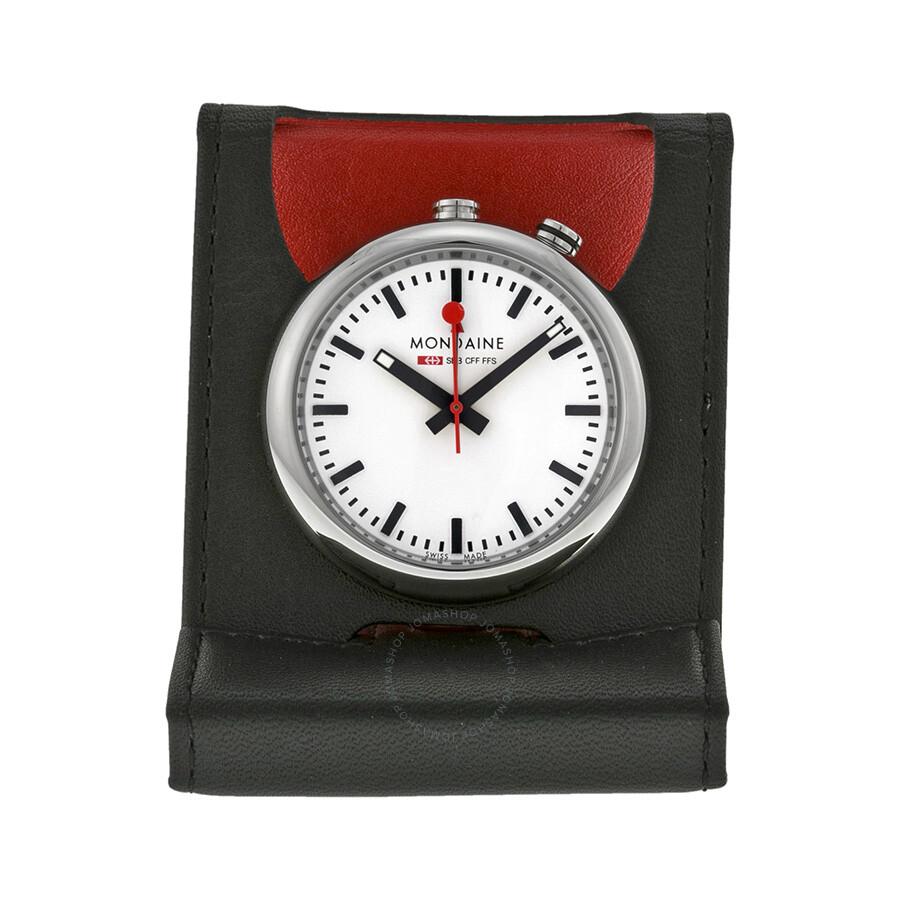 Mondaine Travel Alarm Clock A4683031911sbb Clock Mondaine Watches Jomashop