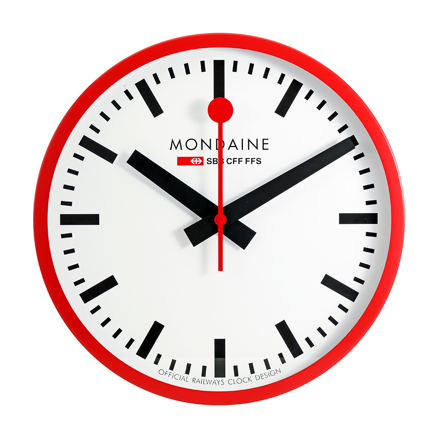 Mondaine white dial large wall clock a995 mondaine watches jomashop - Mondaine wall clocks ...
