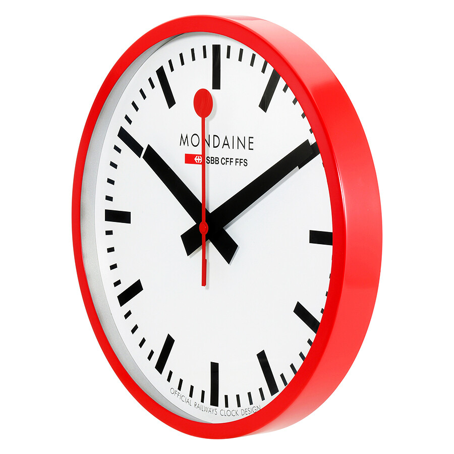 Mondaine white dial large wall clock a995 clock mondaine watches jomashop - Mondaine wall clocks ...