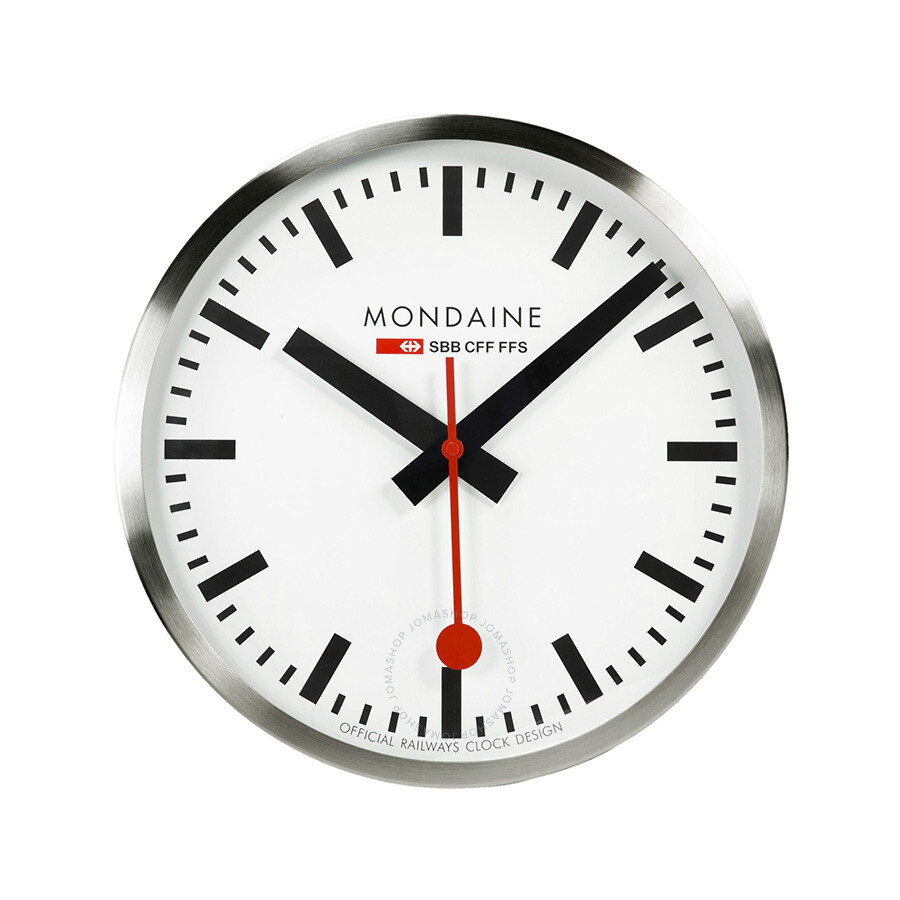 Mondaine white dial metal frame 400mm wall clock a995 mondaine watches jomashop - Mondaine wall clocks ...
