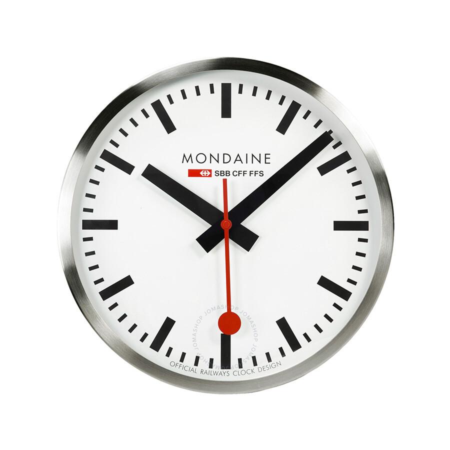 Mondaine White Dial Metal Frame 400mm Wall Clock A995