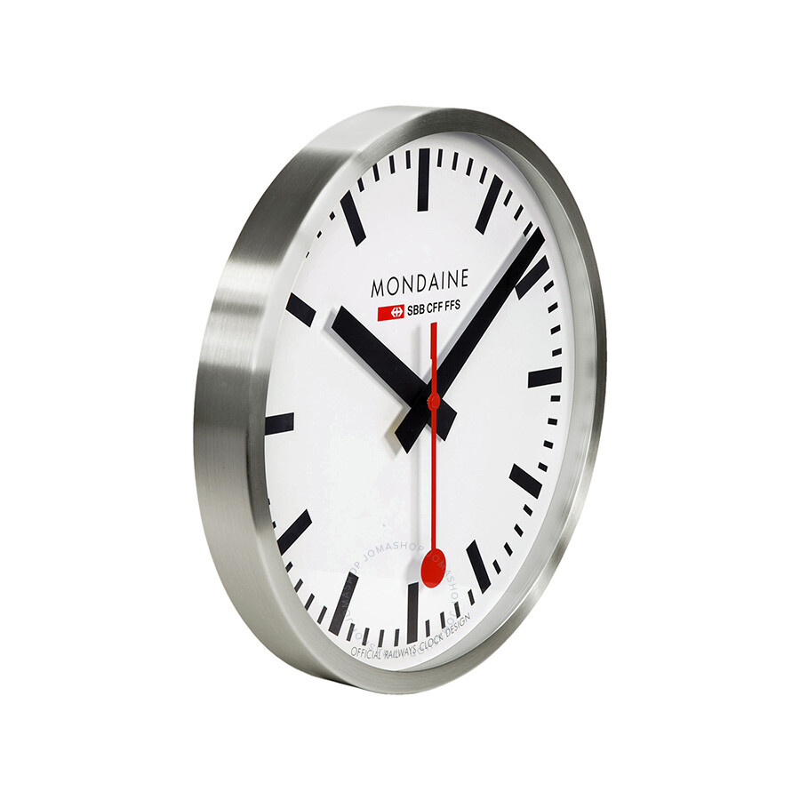 Mondaine White Dial Metal Frame 400mm Wall Clock A995