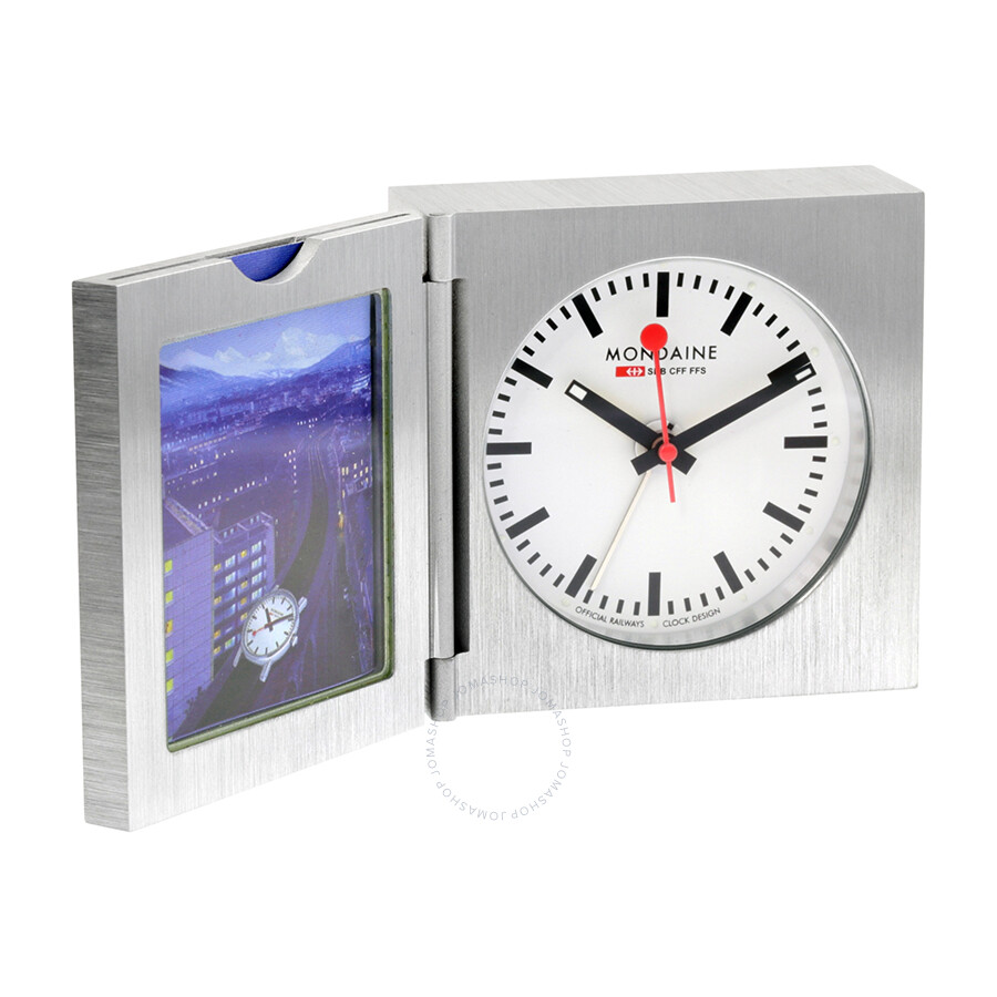 Mondaine white dial unisex desk clock a992 clock mondaine watches jomashop - Mondaine wall clock cm ...