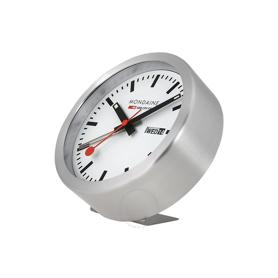 Mondaine white dial white frame desk wall clock a993mcal16sbb mondaine watches jomashop - Mondaine wall clocks ...