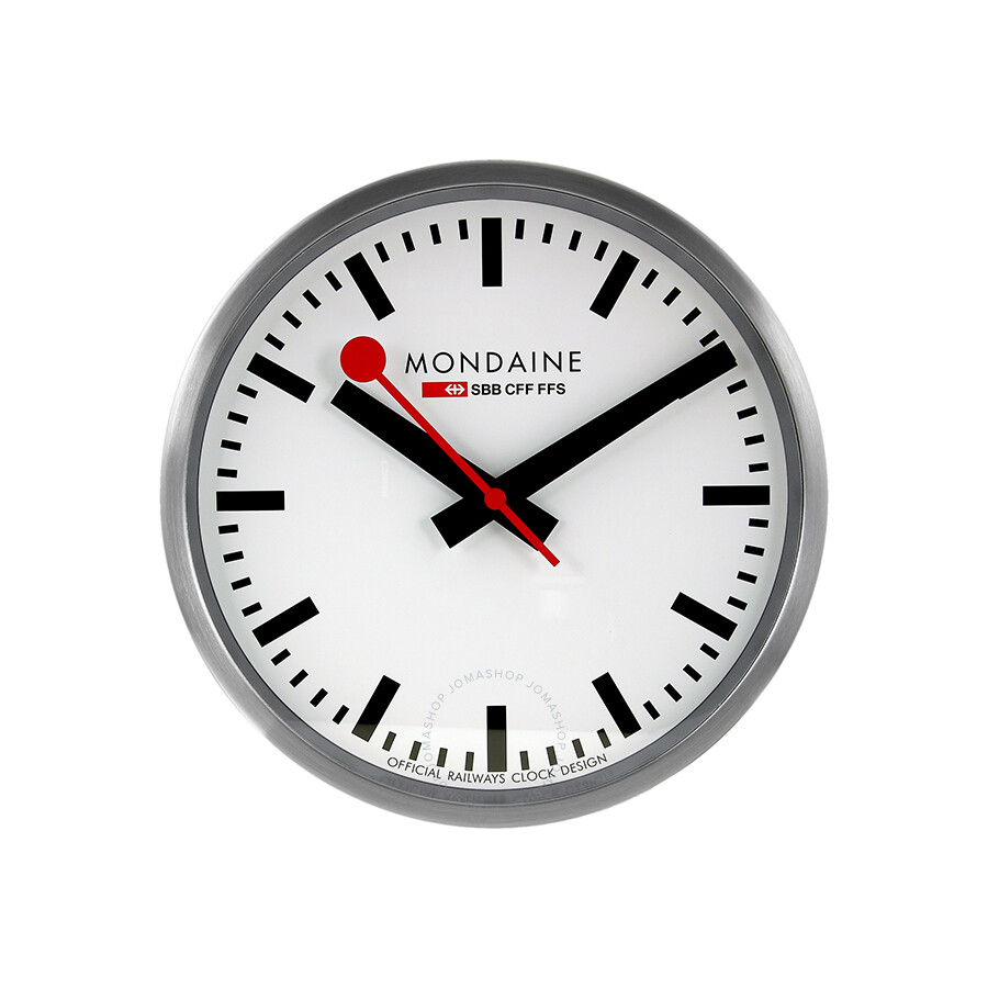 Mondaine white dial white frame wall clock a990clock16sbb clock mondaine watches jomashop - Mondaine wall clocks ...