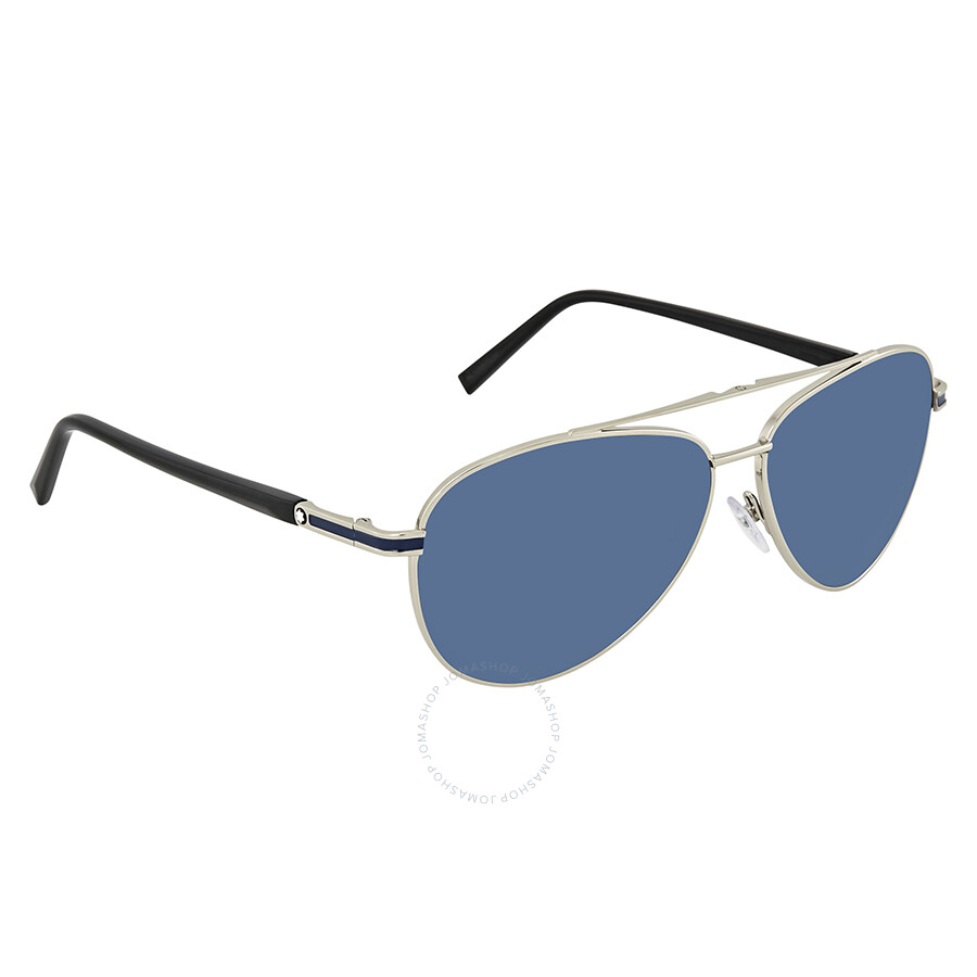 e75030752 Montblanc Blue Aviator Sunglasses MB702S 16V 59 Item No. MB702S 16V 59