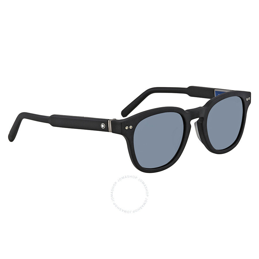 874abe05939 Montblanc Blue Mirror Square Sunglasses MB693S F 02X 51 - Montblanc ...