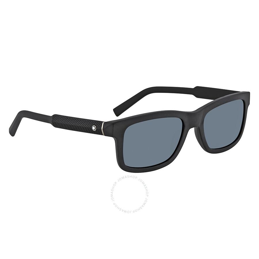 0518eea0b71e Montblanc Blue Rectangular Men s Sunglasses MB653S 02V 55 ...
