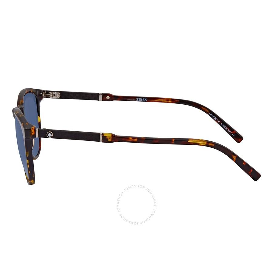 23080da7f3 Montblanc Blue Round Sunglasses MB588S 55V 52 - Montblanc ...
