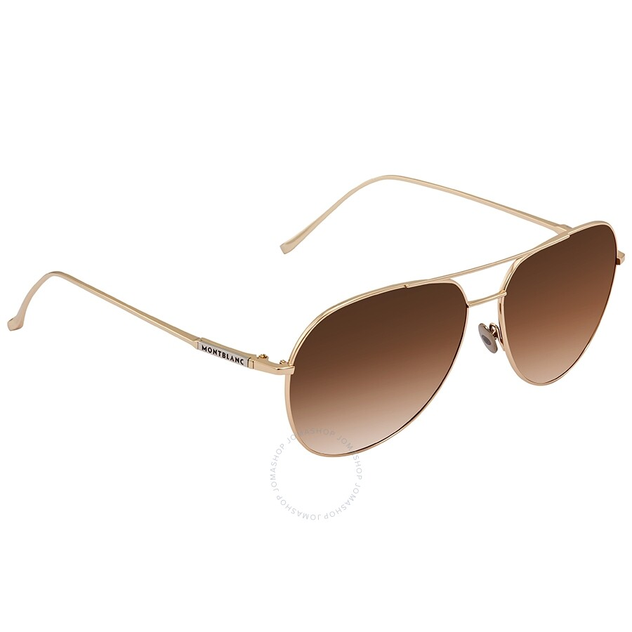 292e47801b93 Montblanc Brown Gradient Aviator Sunglasses MB657S 32F 61 ...