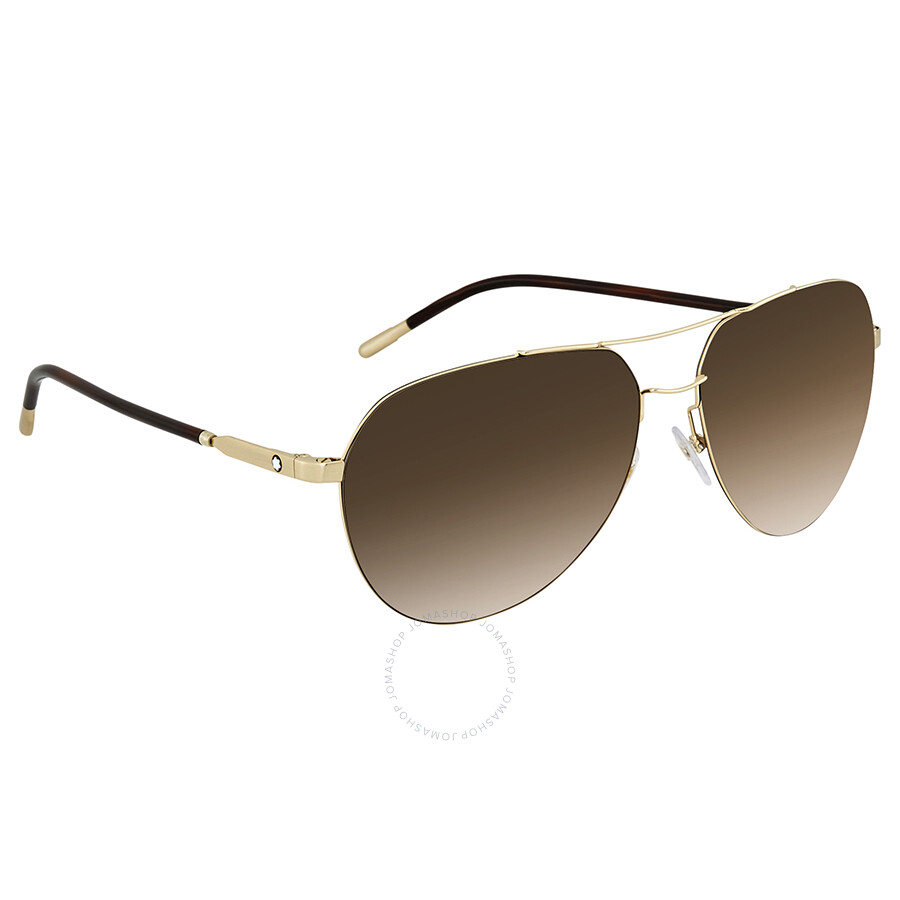 0051dbe48440 Montblanc Brown Gradient Aviator Sunglasses MB695S 32F 60 ...