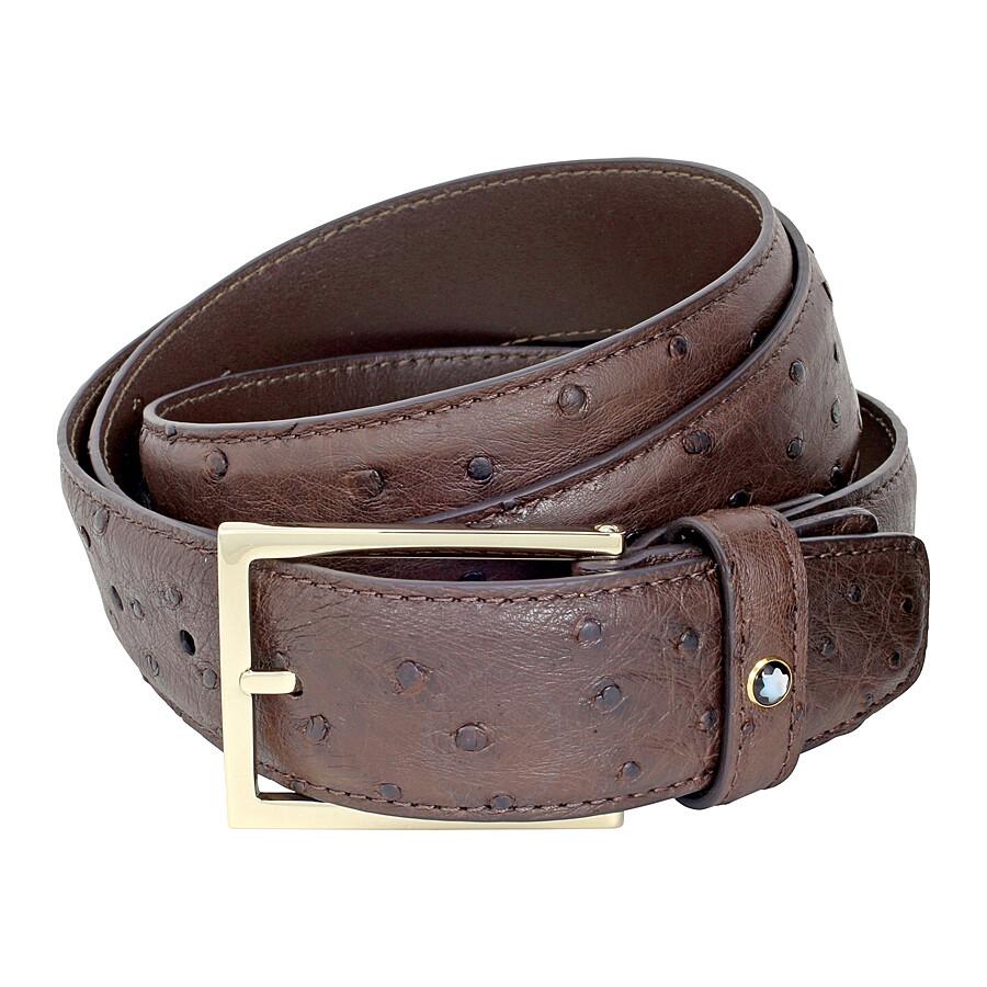 de29220e0a59f0 Montblanc Montblanc Brown Ostrich Leather Belt Item No. 112953