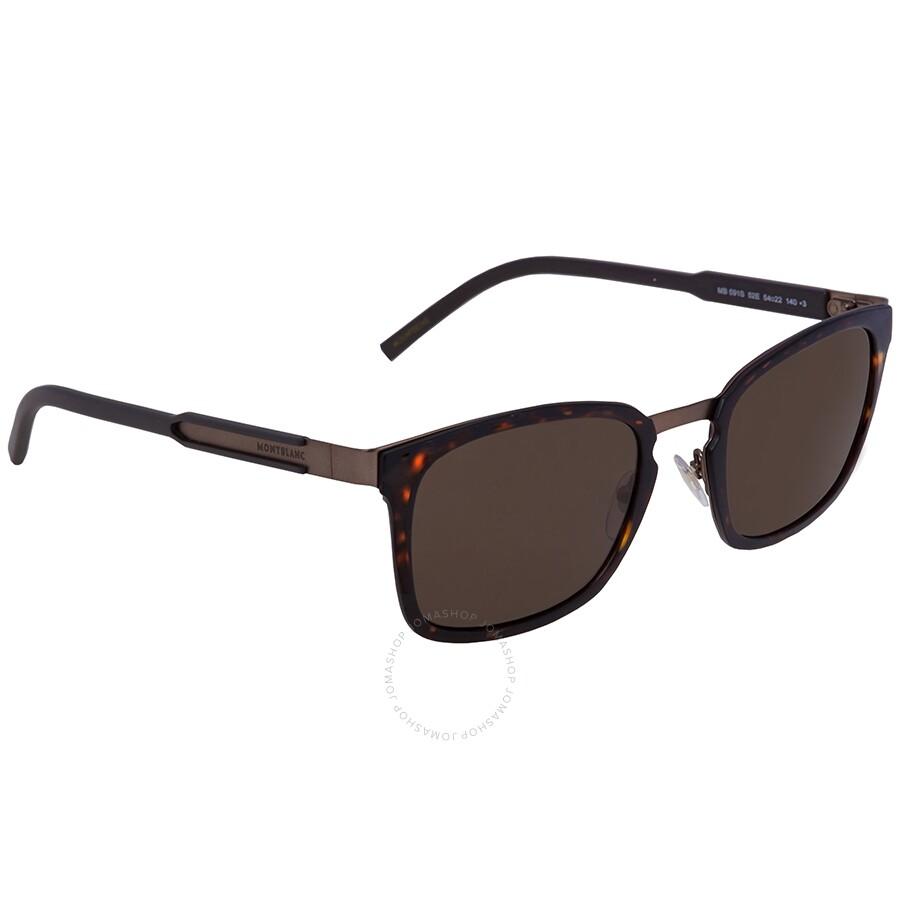564cca117948 Montblanc Brown Square Sunglasses MB591S 52E 54 - Montblanc ...